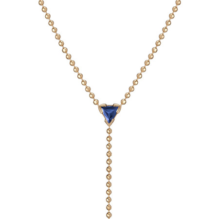 "Shahla Karimi 14K Gold Birthstone ""Y"" Lariat Necklace"