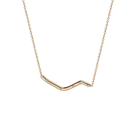 Shahla Karimi 14K Gold Subway Necklace - Broadway Central Park to City Hall