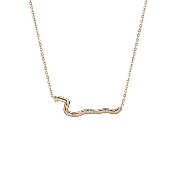 Shahla Karimi 14K Gold Subway Necklace - Harlem to South Ferry