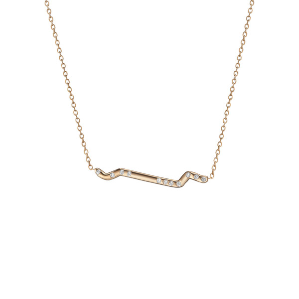 Shahla Karimi 14K Gold Subway Necklace - Inwood to World Trade Center