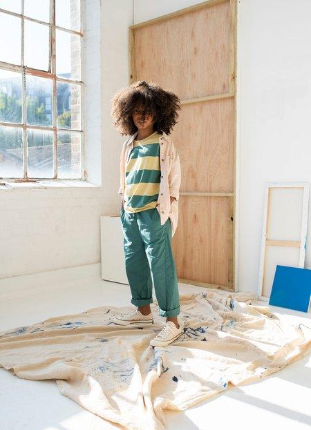 Kids unisex Main Story Oversized Buttondown top - smoke grey