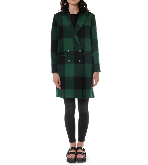 Sea NY - Plaid Overcoat