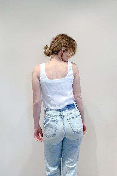 R.G. Kane Heather Shell top - white