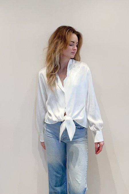 RG KANE Ivory Fluid Blouse - white