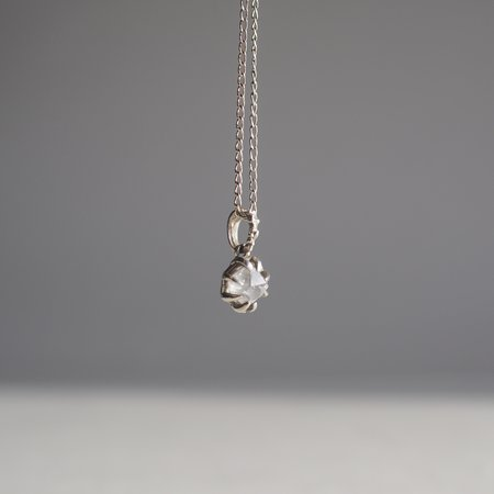 Angela Monaco Herkimer in the Rough Necklace - silver
