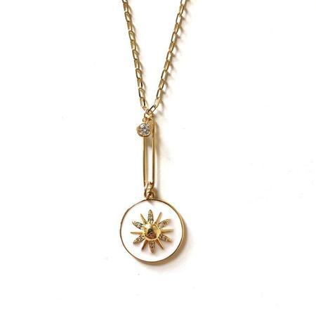 Jennifer Tuton Starburst Drop Pendant necklace