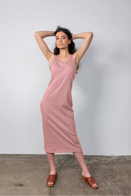 Lois Hazel Rib Tank Dress - Rose