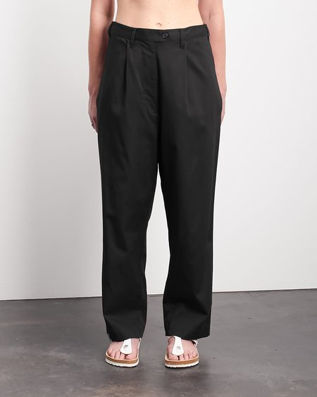 Roucha Pel Cotton Twill Pleated Trouser Pant