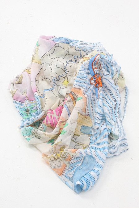 SWASH Silk & Cotton Scarf Candyland