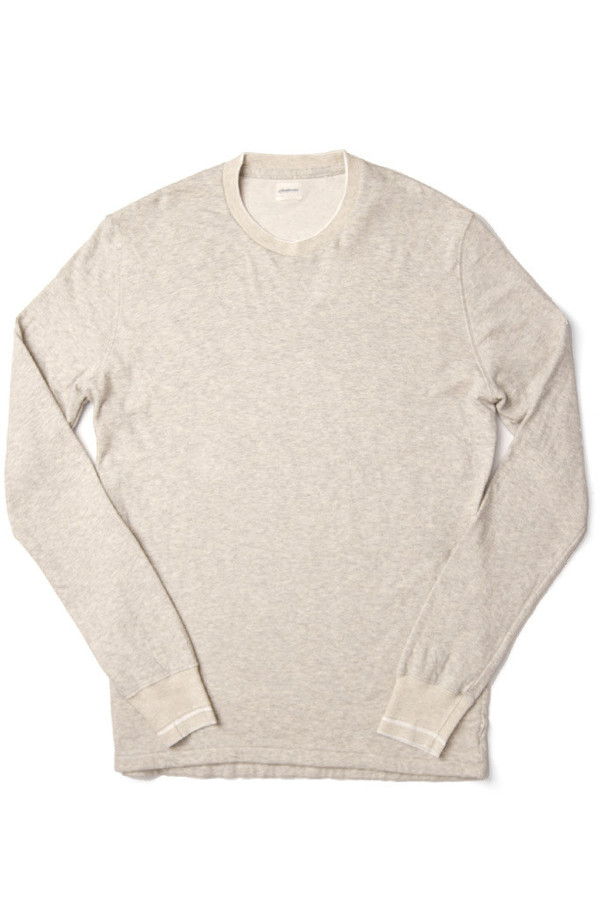 Men's Shuttlenotes Rojer Long Sleeve Crew Antique Grey