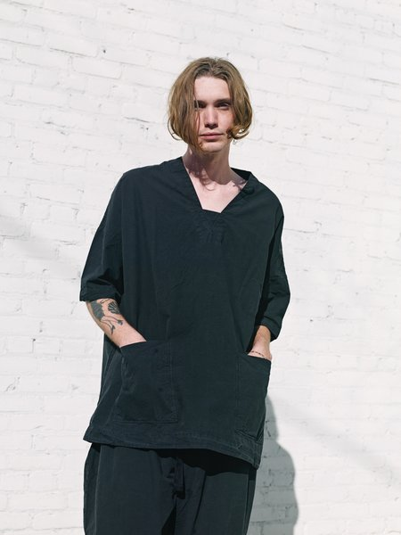 Casey Casey Cotton P Top Shirt - Black Washed