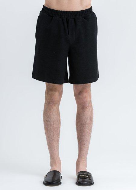 we11done Zurry Pajama Shorts - Black