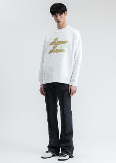 we11done Logo Print Long Sleeve Shirt - White