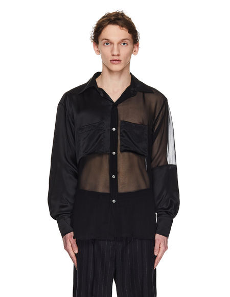 Enfants Riches Deprimes Transparent Silk Shirt - Black