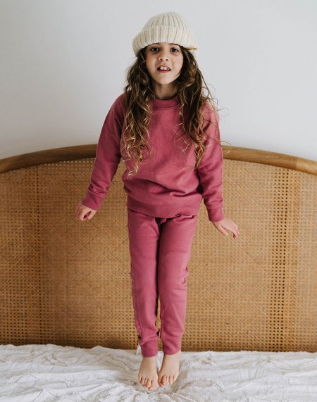 Kids Noble Organic Sweatshirt - Elderberry