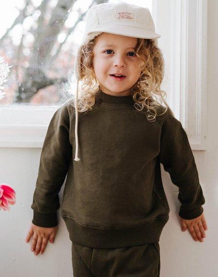 Kids Noble Organic Sweatshirt - Olive