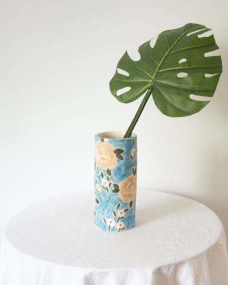 Erika Christine Ceramics Meadow Cylinder Vase