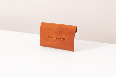 Foxtrot Studio Button Wallet - Cognac
