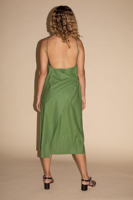 Baserange Yumi Apron Dress - Sun Moss Green