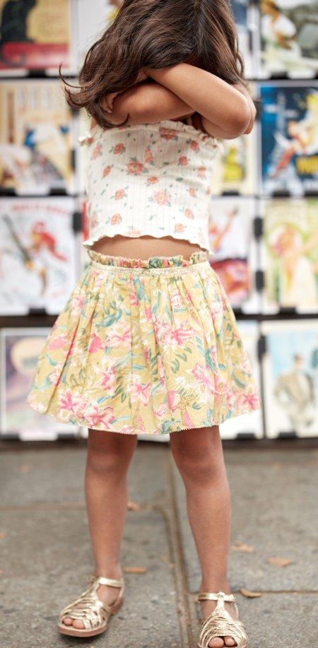 Kids Louise Misha Salina Skirt - Soft Honey Parrots