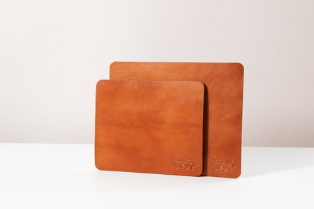 Foxtrot Studio Large Leather Mousepad - Cognac