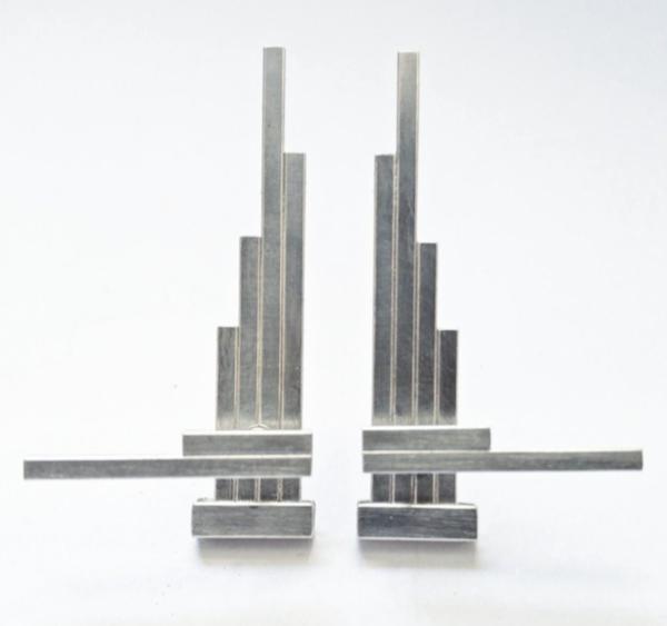 Aura Bankauskaite Akajewellry Concord Double Silver Earrings
