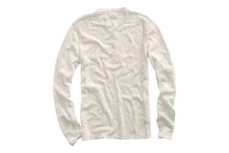 RRL Waffle-Knit Cotton Henley - Paper White