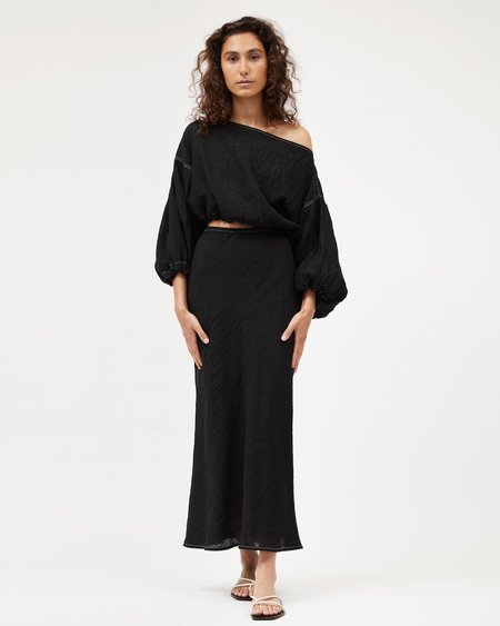 Dominique Healy Bias Skirt - Black