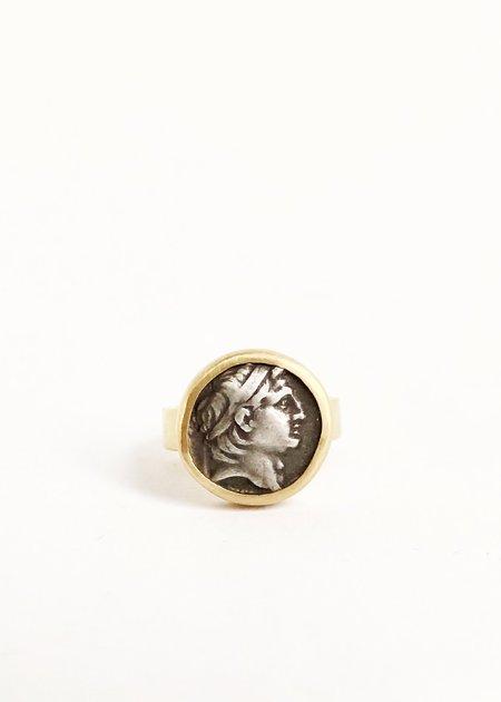Vintage Heike Grebenstein Ring From Seleukid Kingdom 162-150 BC - 22k Gold