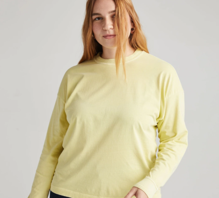 Richer Poorer Long Sleeve Relaxed Tee - Pale Green