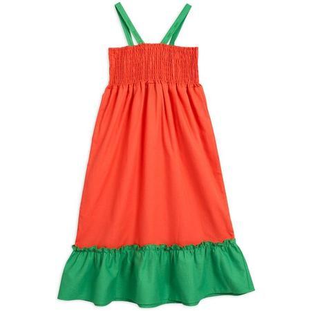 kids mini rodini woven smock dress - red