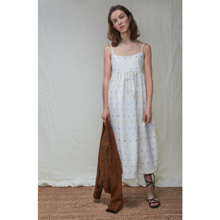 the new society cecile  dress - off-white