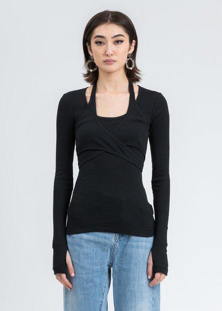 Helmut Lang Wrap Long Sleeve -  Black