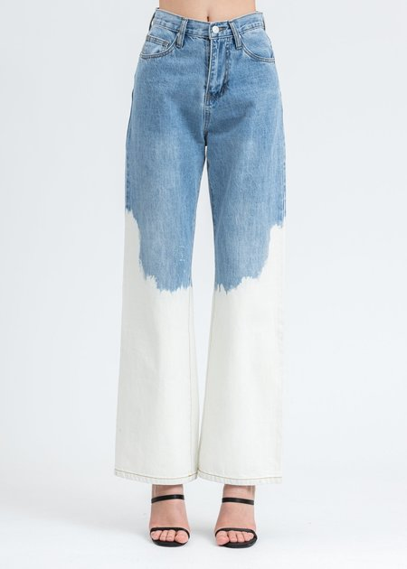 Ann Andelman Tie Dye Denim Jean - Blue
