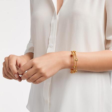 Julie Vos Colette Pearl Medium Bangle - Gold