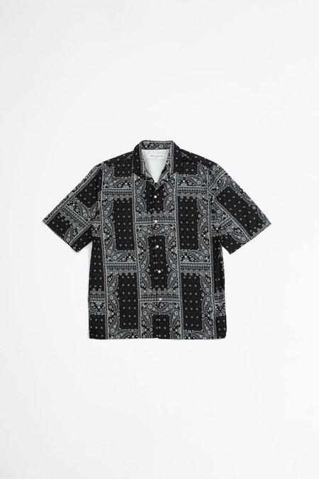 Officine Generale Eren Shirt - Bandana Print Black/White
