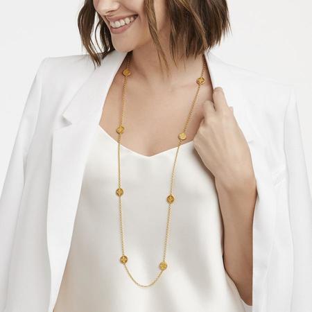 Julie Vos Fleur-de-Lis Station Necklace - 24K gold