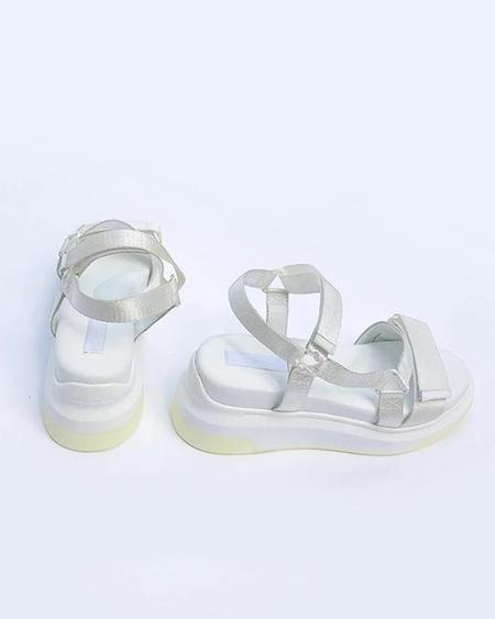 Suzanne Rae Nylon Velcro Sandals - White
