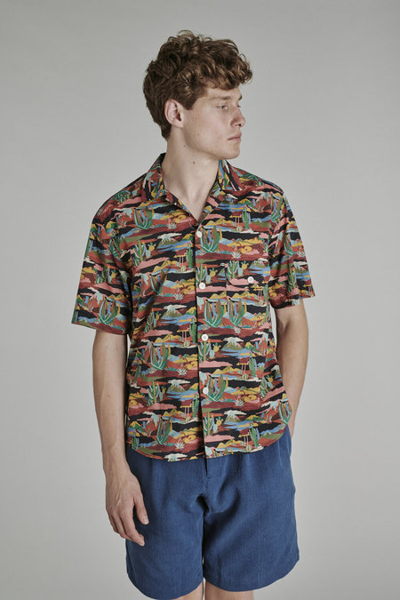 Delikatessen Camp Collar Shirt - Liberty Fabric