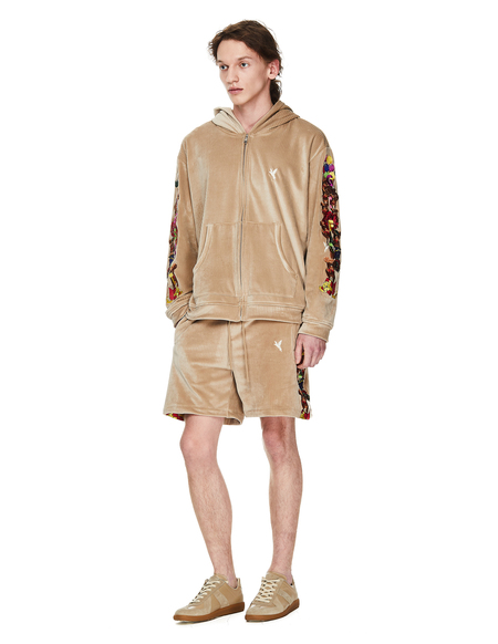 Doublet Velour Embroidered Shorts