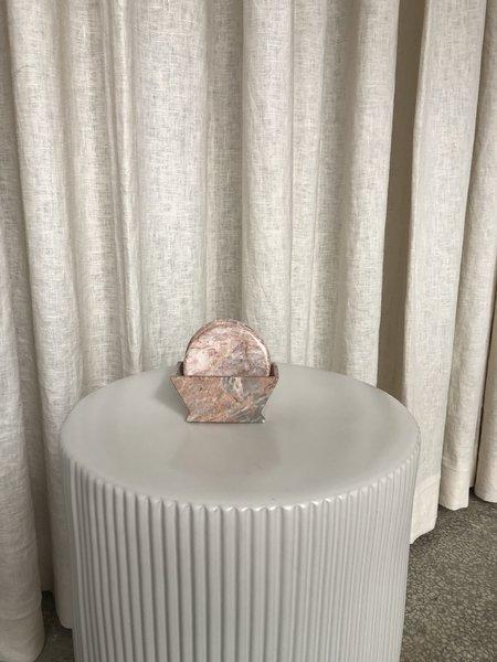 Ri-Ri-Ku Marble Coaster Set - Pink