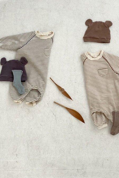 Kids Korean Collective Stripe Terry Onesie - Grey
