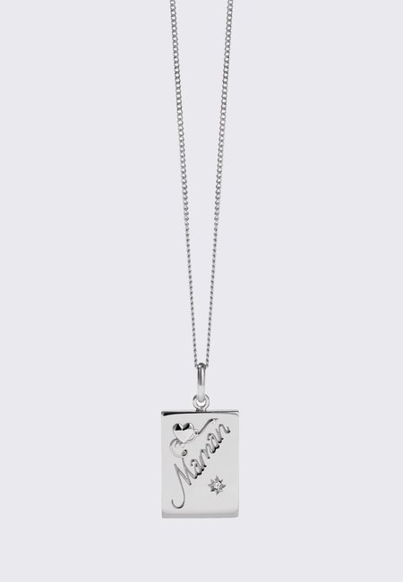 Meadowlark Maman Necklace - silver/reclaimed white diamond
