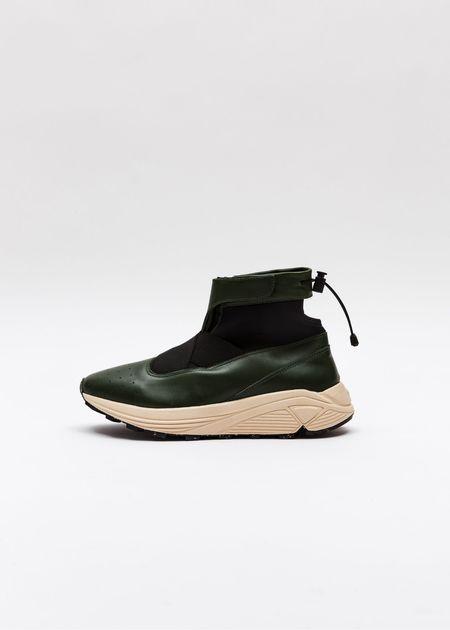 Guillermo Bravo La Pola High Top Sneaker - Cream/Green