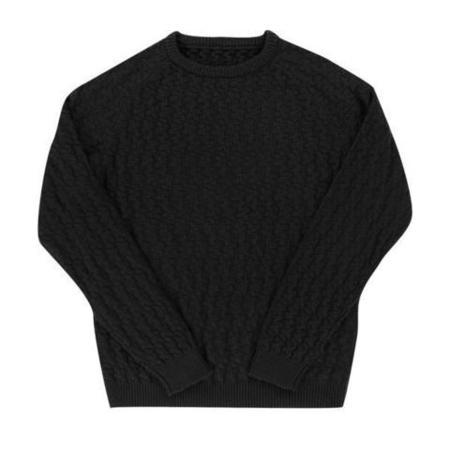 Aloha Sunday Relief Sweater - Black