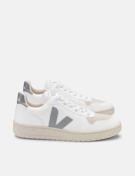 Veja V-10 CWL Trainers - White/Oxford Grey