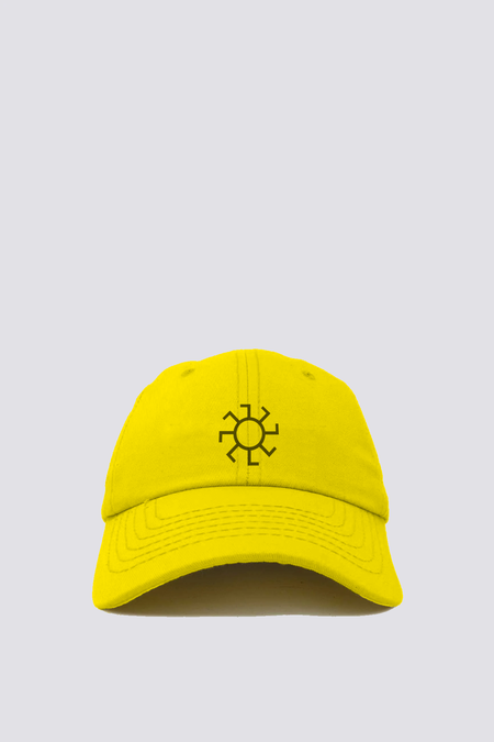 Assembly Sunwheel Embroidered Hat - Marigold/Black