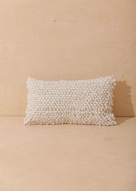 Territory Nube Lumbar Pillow Cover - Cream