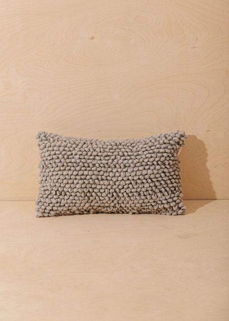 Territory Nube Lumbar Pillow Cover - Grey