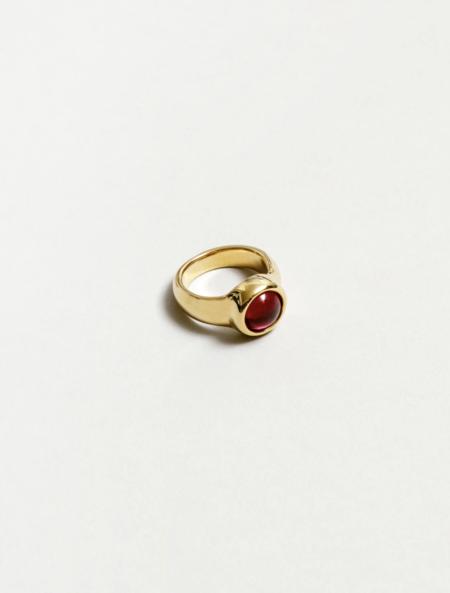 MERAKI BOUTIQUE Magda Ring - Ruby/Gold